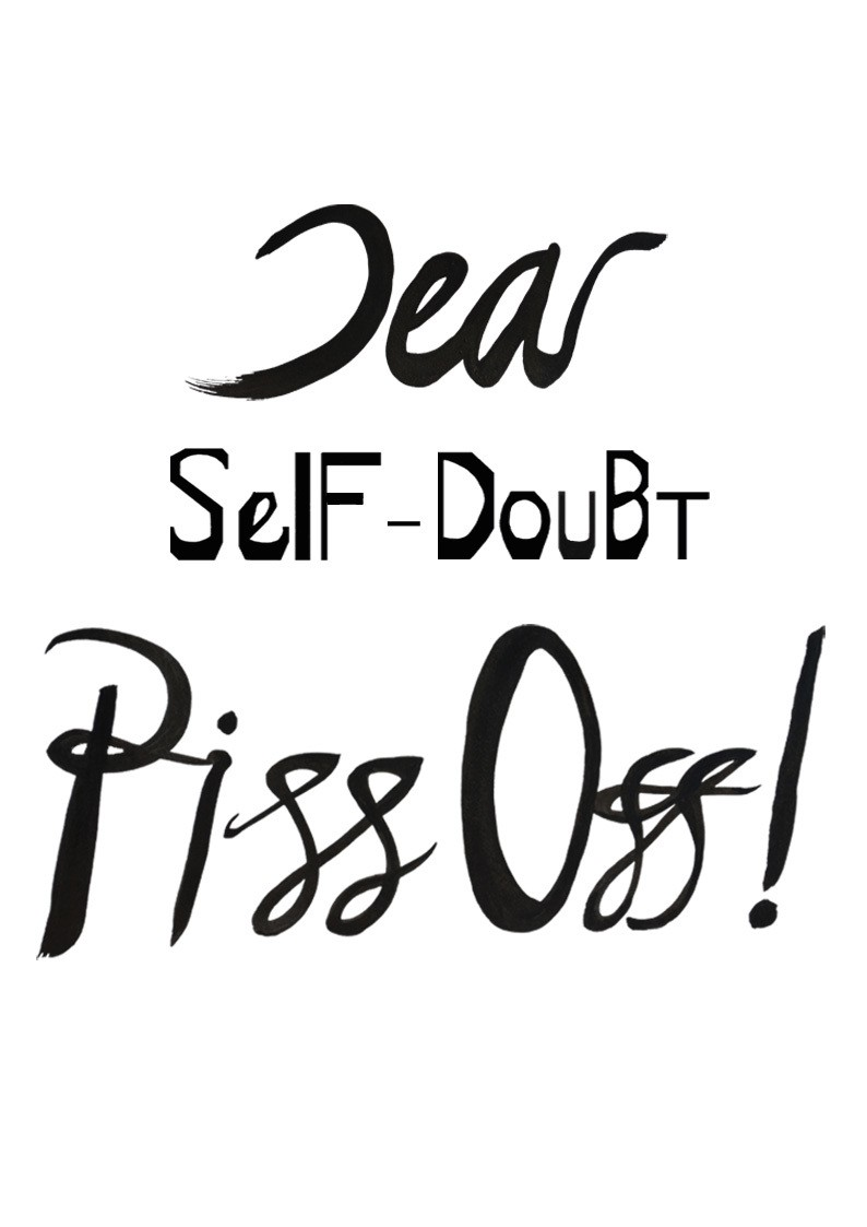 Self doubt poster